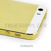 24k gold for iphone 5s for iphone 5s back housing, for iphone 5s 24k gold housing