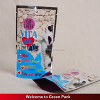 Moisture Proof Custom Printed Stand Up Cat Food Zipper Plastic Bag /pet Food Pouch For Cat Food