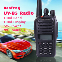 Hot Sell BAOFENG UVB5 dual band two way radio with 2000mAh high capacity battery