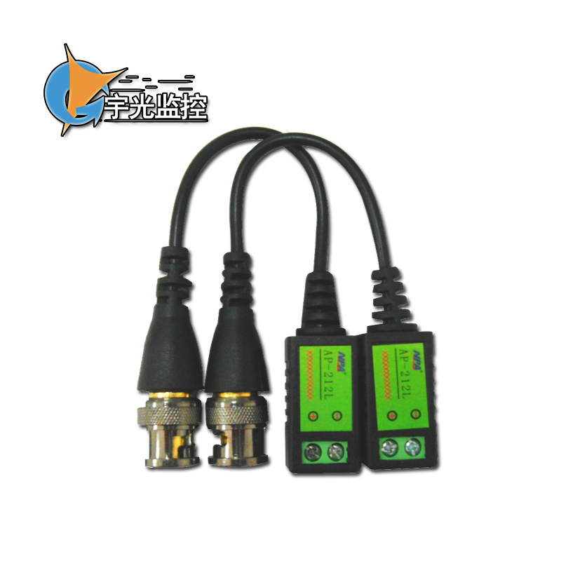 CCTV Via Twisted Pair BNC Video Balun to Coax twisted single channel balun converter