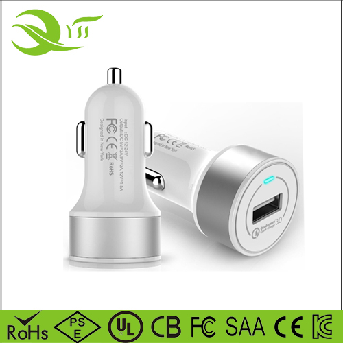 Quick charge 3.0 , 1 port 18W qc3.0 lastest car mobile phone charger