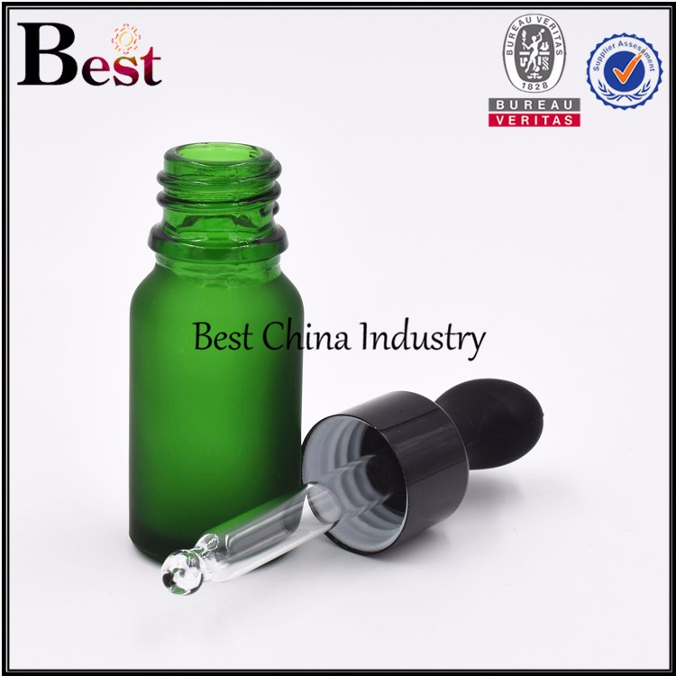 hot sale new unique green essential oil bottle coconut oil bottle10 ml