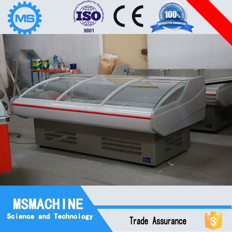 Supermarket used fish meat deli freezer refrigerator