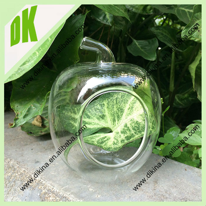 "Glass orb stand measures 6.5"" tall with 5"" acros for DIY Terrarium Wedding Party Decor Wholesale Apple Shaped 5 Inches Glass Orb"