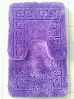 pp bathroom mat 2pcs sets with tpr backing