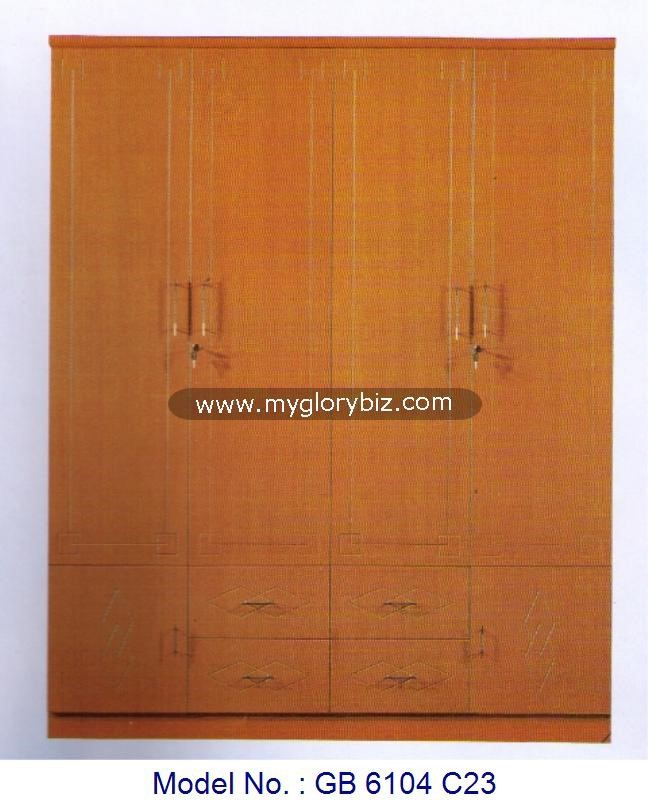 Wooden Wardrobe 4 Doors Closet Furniture For Home Furniture In MDF Without Mirror, clothes wardrobe furniture, wooden bedroom