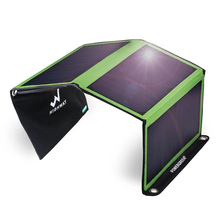 PowerGreen 21Watts Solar Power Bank Foldable Solar Charger for Camping