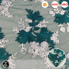 wholesale sequin embroidery beaded lace fabric for wedding dress or table linens