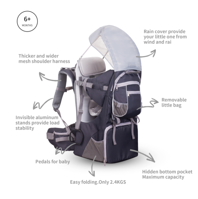 Children's Carrier/baby backpack(with EN13209 certificate)baby product