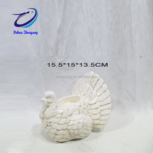 white ceramic turkey for Thanksgiving home decoration