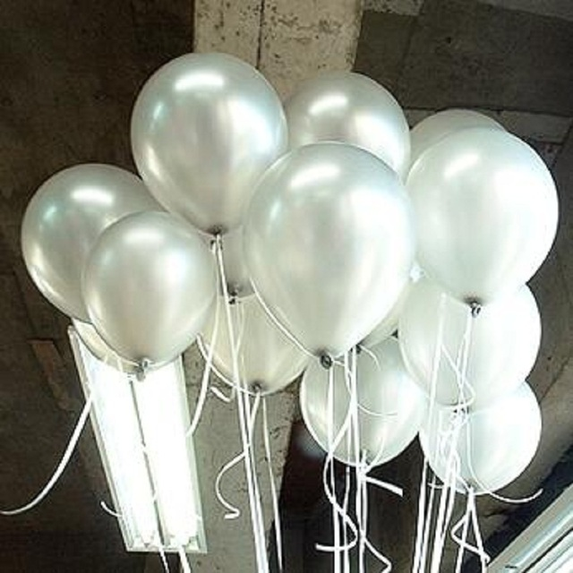 "Silver Latex Balloons 10"" 1.5g 100pcs/lot Helium Thickening Pearl Balloons Wedding Brithday Decorations balony globos Toys Gifts"
