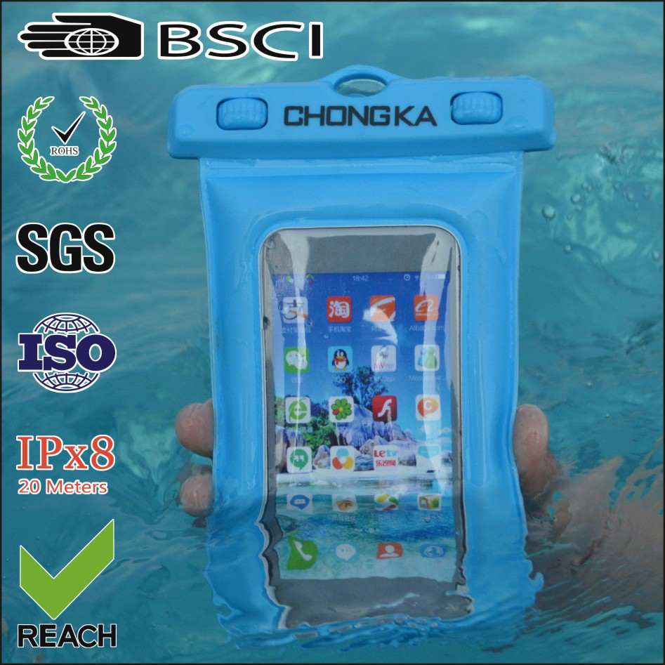 2017 New Products Inflatable PVC Cellphone Waterproof Bag