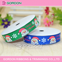"Christmas Day 5/8"" Personalized Printed Grosgrain Ribbon"