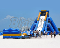 Free Shipping By Sea Giant Beach Inflatable Water Slide For Sale