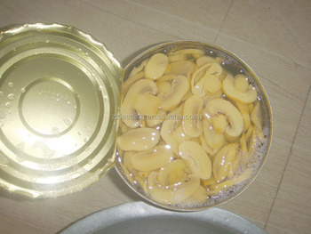 CANNED SLICED MUSHROOM IN WATER PRESERVATION