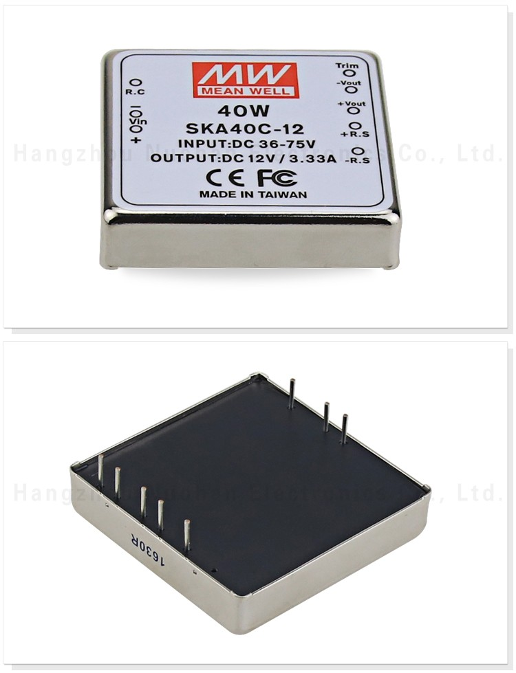 Meanwell 40W DC-DC Regulated Single Output Converter 12v dc switching power supply