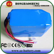 rechargeable electric scooter battery 18650 48v lithium ion battery pack 30ah 13s12p