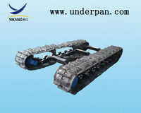 agricultural rubber crawler undercarriage for harvester