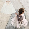 Kids Birthday Party Wear Girls Mesh Shiny Princess Cape