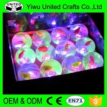 China LED rubber flashing led light up bouncing ball
