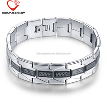 best selling fashion love style watchband two tone bracelet german stainless steel jewelry