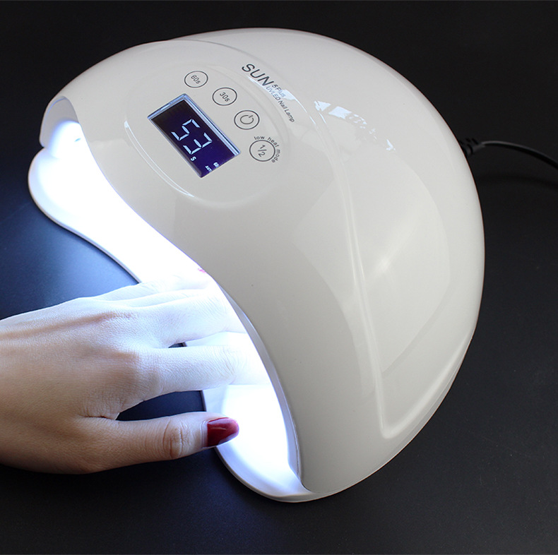 Nail Gel Polish Curing New Arrival SUN5Plus 48W Dual UV LED Nail Lamp