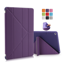 Factory Outlet Soft PU Leather Smart Magnetic Flip Cover Case for iPad Air 2 for iPad 6