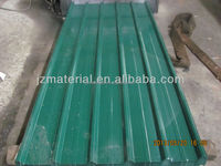 Ghana popular 32gague RAL6005 green trapezodial roofing sheet 1025mm/ full hard zinc roofing sheet/ colored galvalumed roofing