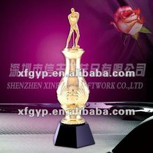 vast, golden golf sport casting metal trophy cup