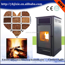 Automatic biomass wood pellet stove with oven
