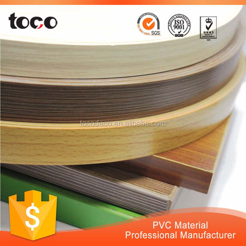 Mass production rubber pvc/abs/pmma edge bandingedging trim with good quality