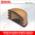 1/8 BSPP Flush Mount Brass Silencer, Sintered Bronze Element