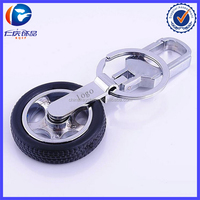 New Design Custom logo car tire Different shapes Metal keychains