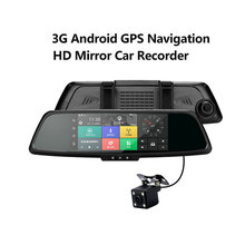 7 Inch 3G Full Hd Wifi Dual Car Camera Android Dvr Video Recorder Gps Navigation Rearview Mirror Car Dvr Wifi 1080P Car Dash Cam