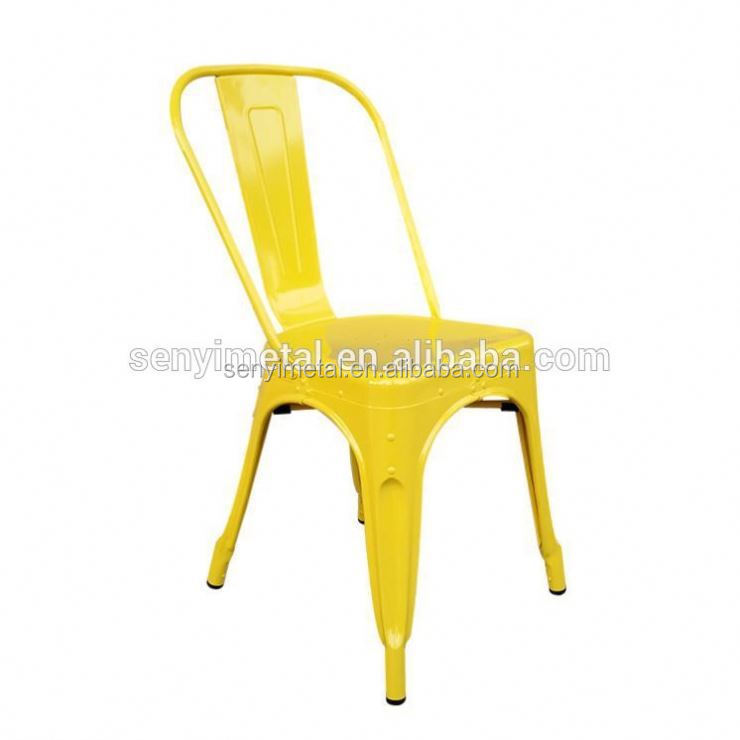 Low Price Metal Wire Chair Bracket Colored Armless Metal Cafe Chair