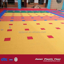Outdoor sports usage hard plastic pp material modular kindergarden interlocking flooring