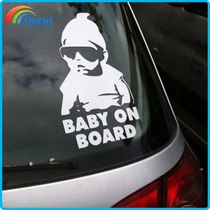 Hot sale vinyl stickers custom logo for car window