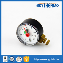 bottom connection high quality small vacuum pressure gauge