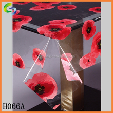 New design clear printed plastic tablecloth rolls