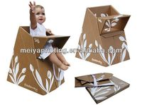 BABY Chair Corrugated folding cardboard chair Furniture Toys Kids Table With Colorfull printing