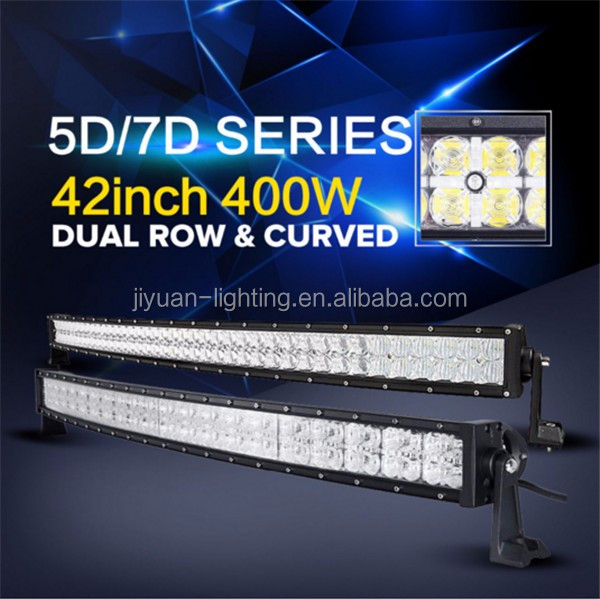 Guangzhou top selling products 2015 480w Curved LED Light Bar 2Rows LED with Mixed Beam Pattern 50inch led light bar