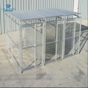outside heavy duty 5'X10'X6' dog kennel 3 run with fight guard