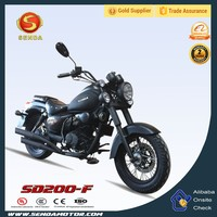 Popular Gas Motor Chopper Bike 4 Stroke Engine 200CC Motor Bicycle SD200-F