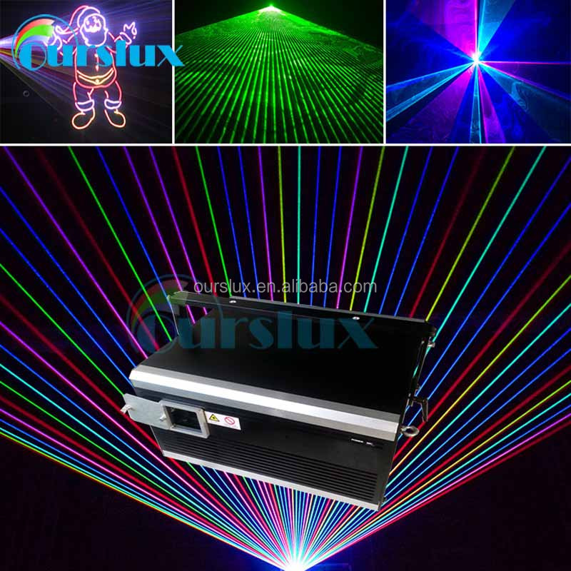 2016 new design laser light show 2W RGB sd card animation stage night club dj disco laser light equipment