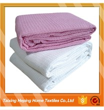100% cotton cellular thermal blanket