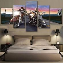 new design arts and craft architecture 5 panel canvas wall art canvas printing