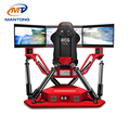 2018 new products 3 screens motion racing simulator car from Mantong factory
