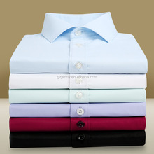 Wholesale Busniess Shirts Long Sleeve Striped Twill White Latest Dress Shirts for Men