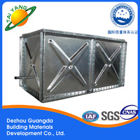 practical galvanized water tank for wholesales Guangda building water tank galvanized water storage tank