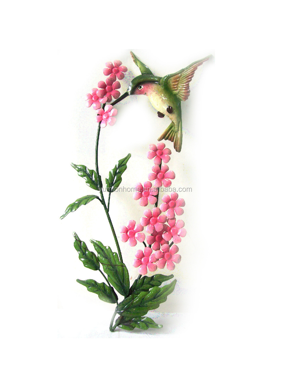 2015 new stylish cute flower metal wall art decor